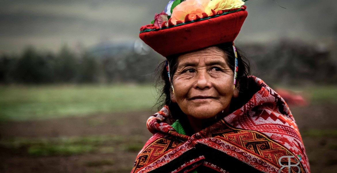 Local villager in Kunkani village in Peru