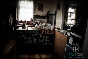 Cafe at Yendegaia House, Porvenir, Tierra del Fuego, Chile