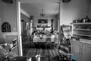 Cafe at Yendegaia House, Porvenir, Tierra del Fuego, Chile