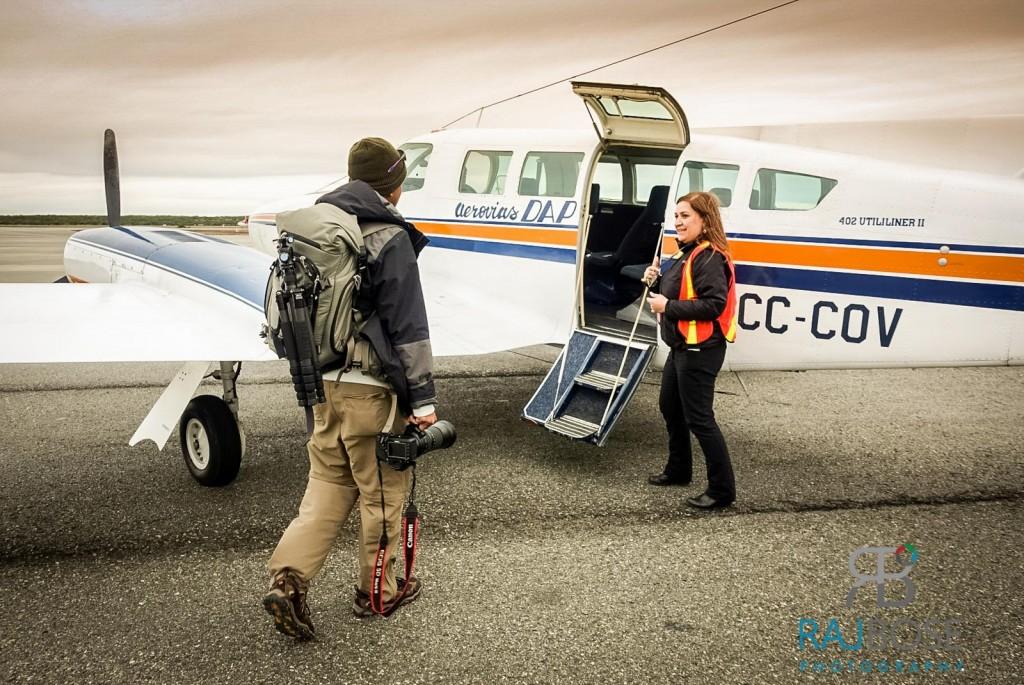BOarding a Cessna plane on our flight to Porvenir, Tierra del Fuego, Chile
