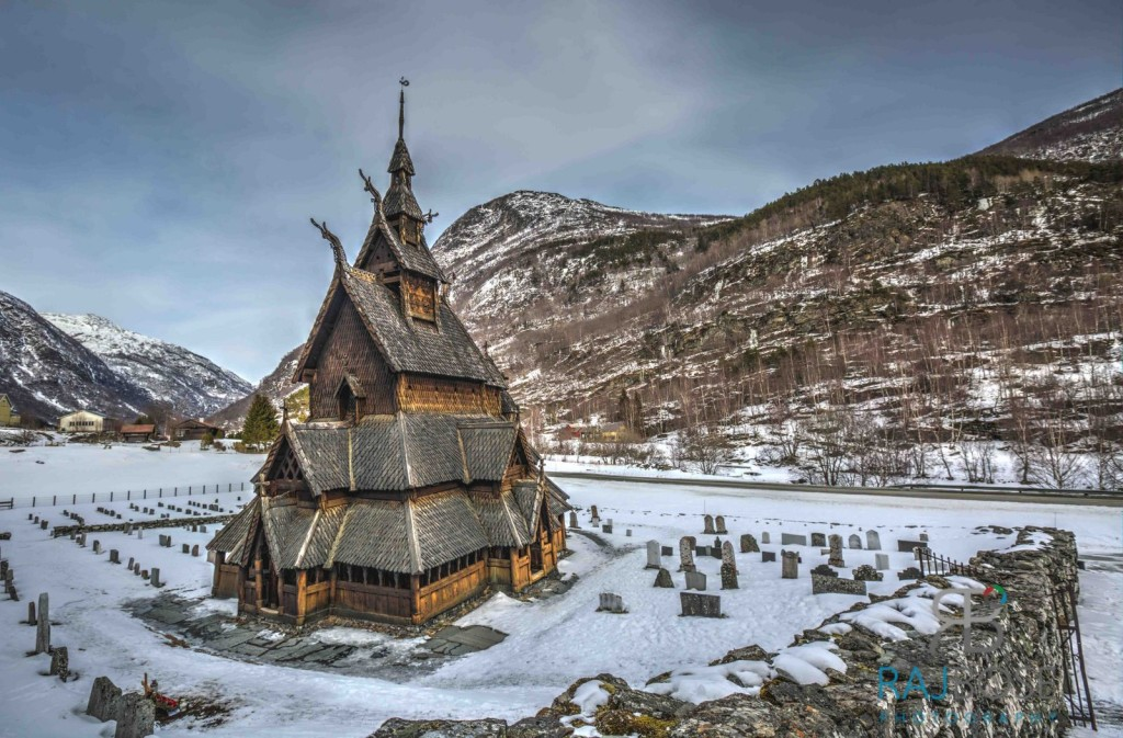 Famous Stave Church in Borgund